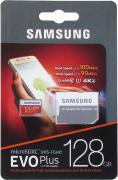 Карта памяти MicroSD EVO Plus V2 128GB Class 10 + SD адаптер