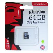 Карта памяти KingSton Canvas Select microSDHC Class 10 UHS-I U1 64GB