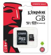 Карта памяти Kingston TransFlash 16Gb Class 10 80MB/s