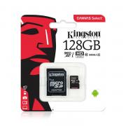 128GB: Карта памяти MicroSDXC 128Gb Kingston Ultra 80Mb/s, class 10