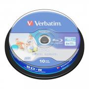 Диск BD-R Verbatim 25Gb 6x Cake Box Printable (10 шт.) (43804)