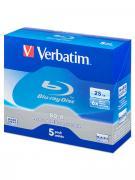 Диск BD-R 25Gb Verbatim 6x (43715), Jewel Box, упаковка 5 шт.