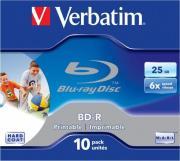 Диск BD-R Verbatim, 25Gb, 10шт