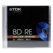 Диск TDK BD-RE 25GB 2X 1шт slim