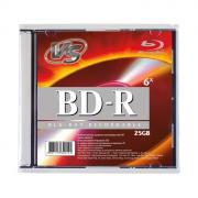 Диск VS BD-R (6x, 25GB, Slim, 1шт.)