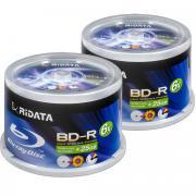 Диск BD-R 25Gb RiData (Ritek) 6x Full Printable cake box, 100 шт.