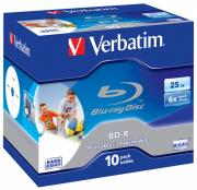Диск BD-R Verbatim 25Gb 6x Jewel Case Printable (10 шт.) (43713)