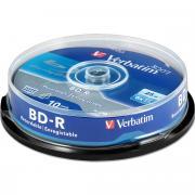 Диск BD-R 25Gb Verbatim 6x (43742), cake box, упаковка 10 шт.