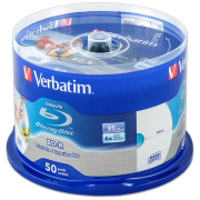 Диски Verbatim BD-R (6x, 25GB, Cake 50шт, под печать) 43812