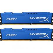 Модуль памяти DDR3 8GB (2*4GB) Kingston HX316C10FK2/8 HyperX FURY Blue PC3-12800 1600MHz CL10 1.5V Радиатор RTL
