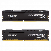Модуль памяти DIMM 8Gb 2x4Gb DDR4 PC19200 2400MHz Kingston HyperX Fury Black CL15 (HX424C15FBK2/8)