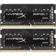 Модуль памяти SO-DIMM DDR4 8Gb (2x4Gb) PC19200 2400Mhz Kingston HyperX Impact (HX424S14IBK2/8)
