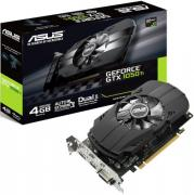 Видеокарта PCI-E ASUS GeForce GTX 1050 Ti PH-GTX1050TI-4G 4GB GDDR5 128bit 14nm 1290/7008MHz DVI-D(HDCP)/HDMI/DisplayPort RTL