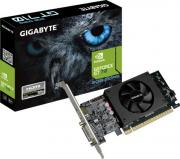 Видеокарта PCI-E GIGABYTE GeForce GT 710 GV-N710D5-2GL 2GB Low Profile GDDR5 64bit 28nm 954/5010MHz DVI-I(HDCP)/HDMI RTL