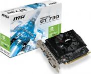 Видеокарта PCI-E MSI GeForce GT 730 N730-2GD3V2 2GB GDDR3 128bit 40nm 700/1600MHz DVI-I(HDCP)/HDMI/VGA RTL