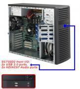 "Case Supermicro CSE-732D2-500B - Mid-Tower, 500W, 4x3.5"" fix HDD, 2x5.25"", 2xUSB + 2x Audio Front"
