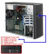 "Case Supermicro CSE-732D4F-903B - Mid-Tower, 900W, 4x3.5"" fix HDD SAS/SATA, 4xUSB + 2x Audio Front"