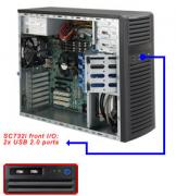 Case Supermicro CSE-732I-500B - Mid-Tower, 500W, 4xHDD fix.internal SAS/SATA, 2x 5.25""
