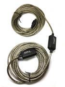 Активный удлинитель USB 2.0 A male to A female 15м Aopen /active Repeater Cable cord A Male to A Female USB Extension Cable/
