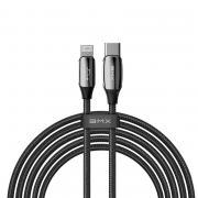 Кабель BMX Sequins MFi certified Cable USB Type-C - Lightning PD 18W 1,8 м. (CATLLP-B01), черный