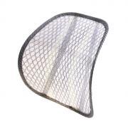 Ортопедическая спинка на сиденье упругая на сиденье 38*39 см, серый