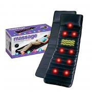 Baziator Массажный матрас (электрический массажер) с пультом управления Massage mat черный