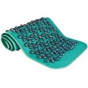 Дорожка массажная с зелеными камнями оздоровительная / коврик для массажа ног