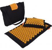 """Набор массажный: коврик и подушка """"Comfox Premium"""" оранжевый"""
