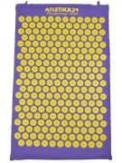 Массажный акупунктурный коврик, фиолетово-желтый (Atletika24, Атлетика24).