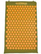 Массажный акупунктурный коврик, зелено-оранжевый (Atletika24, Атлетика24).