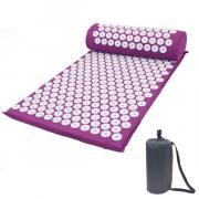 Акупунктурный массажный набор: коврик+валик Rajas, фиолетовый