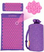 """Акупунктурный массажный набор: коврик+валик """"Comfox"""" фиолетовый."""