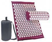 Массажный коврик + подушка + чехол (аппликатор Кузнецова   фиолетовый)