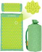 """Акупунктурный массажный набор: коврик+валик """"Comfox"""" зеленый."""