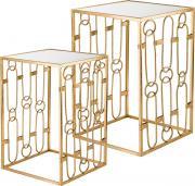 Набор дизайнерских подставок Lefard, цвет: золотистый, 40,5 х 40,5 х 61 см, 2 предмета