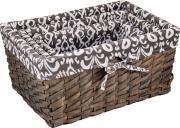 Корзина универсальная Русские подарки, плетеная, 80351, коричневый, 37 х 26 х 17 см