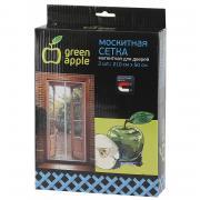 GBN007 GBN007 GREEN APPLE Магнитная сетка на дверь 2штx210смx50см, магнитный замок, 12шт липучка крепежная,