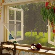 Москитная сетка для окон с крепежной лентой 110х130 см Сивка Бурка