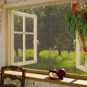 Москитная сетка для окон без крепежной ленты 110х130 см Сивка Бурка