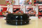 Сковорода гриль-газ D-522 Эмалированное покрытие, двухслойное с мраморной крошкой