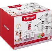 Набор посуды Attribute Classic нержавеющая сталь 3 кастрюли с крышкой (артикул производителя ASS725)