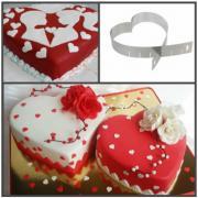 """Металлическая форма для торта """"Сердце"""" регулируемая"""