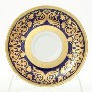 Набор блюдец мокко Falkenporzellan / Natalia cobalt Gold / 6 шт
