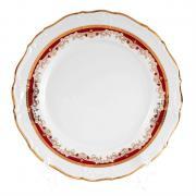Набор тарелок Thun / Мария Луиза красная лилия / 25 см / 6 шт