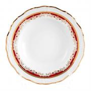 Набор глубоких тарелок Thun / Мария Луиза красная лилия / 23 см / 6 шт
