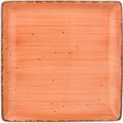 Тарелка закусочная квадратная Nature (оранжевая) Bronco A269395