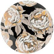 Тарелка обеденная Golden rose (черная) Lefard A268051