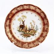 Набор тарелок Queen's Crown / Охота красная / 25 см