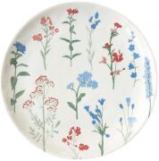 Тарелка десертная Mille fleurs (с синими и красными цветами) Nuova R2S (Easy Life) MT311999