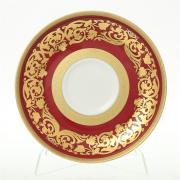 Набор блюдец Falkenporzellan / Natalia bordeaux Gold / 6 пар